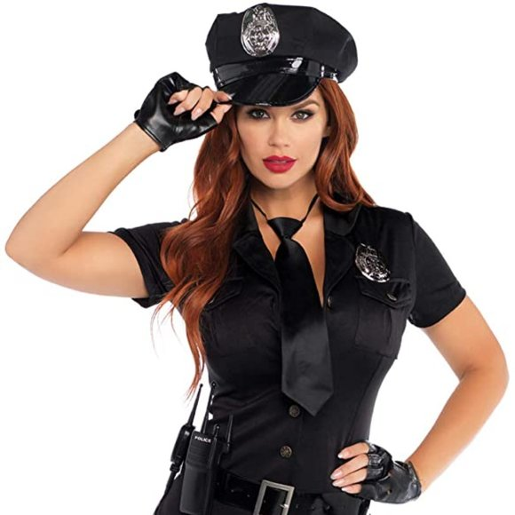 New Dirty Cop Sexy Adult Halloween Costume 6 Piece